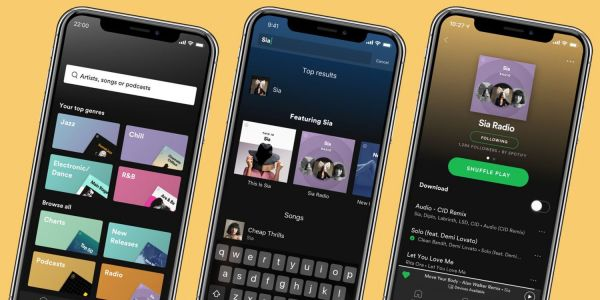 Spotify app gets streamlined navigation, personalized search, endless artist radio