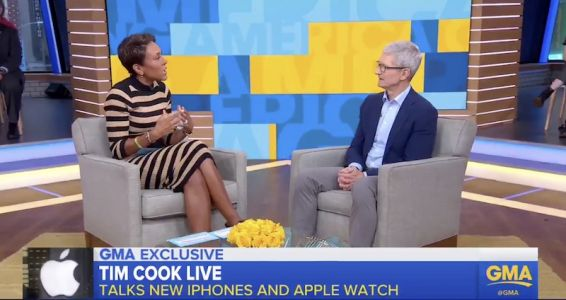Tim Cook on iPhone XS: People Want the Most Innovative Phone Possible and 'It's Not Cheap to Do That'