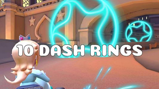 Mario Kart Tour Guide: Pass Through 10 Rings Created By A Dash Ring