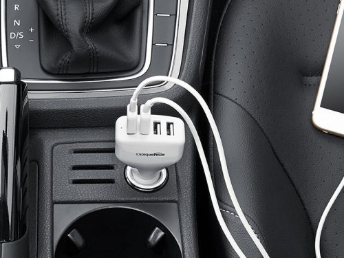 Power up on the ride with AmazonBasics' USB car charger on sale under $10
