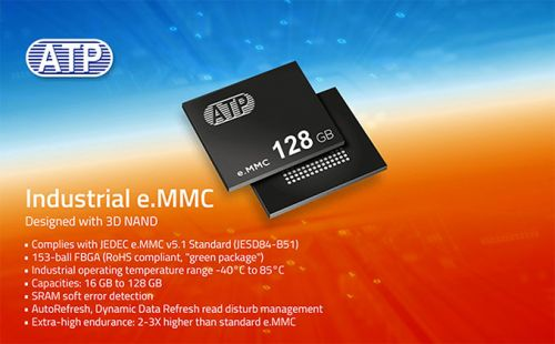ATP Announces eMMC5.1 3D NAND Storage For Extreme Temperatures