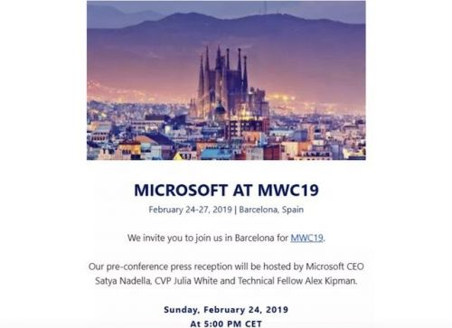 Microsoft Confirms Possible HoloLens 2 Press Event At MWC 2019