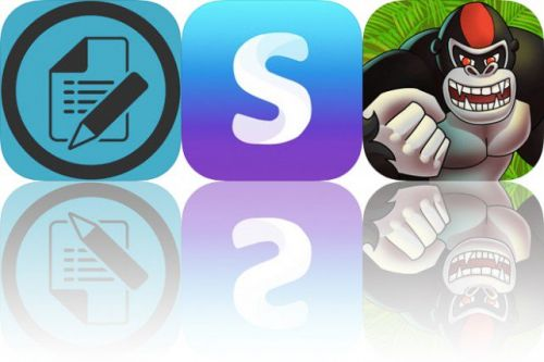 Today's Apps Gone Free: Form Maker, Selfie Editor and Ragingback Gorilla