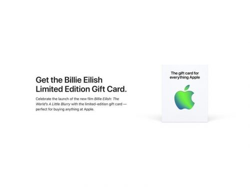 Apple drops limited edition gift card to celebrate Billie Eilish doc