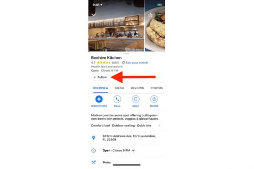 Google Maps on iOS Gains 'Follow' Button So You Can Keep Track of Events and Offers From Local Businesses