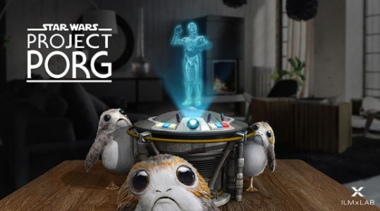 ILMxLAB shows off Star Wars: Project Porg for Magic Leap One