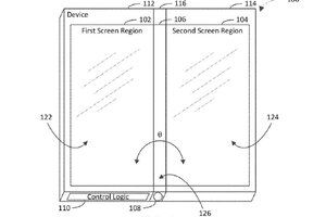 Microsoft patent shows dual screen device with a screen on its hinge