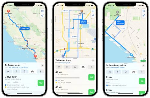 Apple Maps Cycling Directions Now Available Across California and Seattle