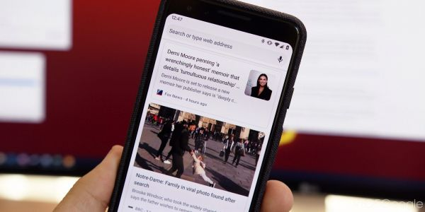 Chrome for Android testing snippets in New Tab Page 'Articles for you'