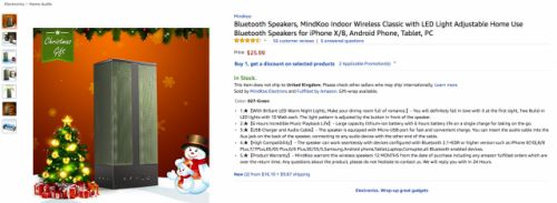 DEAL: Get this Bluetooth LED Speaker for $15.59 w/ coupon code