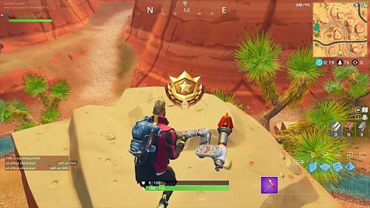 Fortnite Battle Star Guide: Search Between an Oasis, Rook Archway, and Dinosaurs