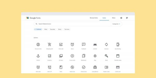 Google Fonts gets new logo as catalog adds iconography, starting with Material Icons