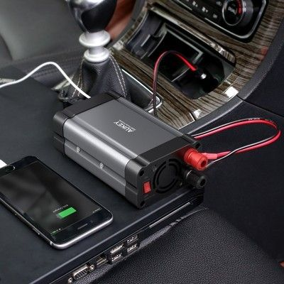 Add two AC outlets to your car with Aukey's $13 inverter