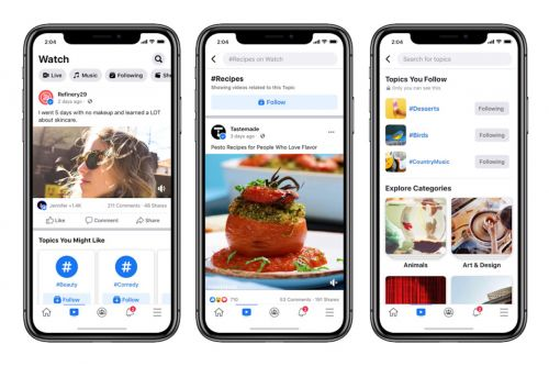 Facebook Watch now lets you follow topics, adds What's Happening section