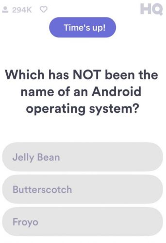 HQ Trivia features Android question on Q12 stumper