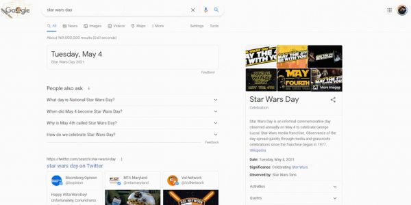 Google's Star Wars Day Easter egg fills Search w/ Baby Yoda, R2-D2, more