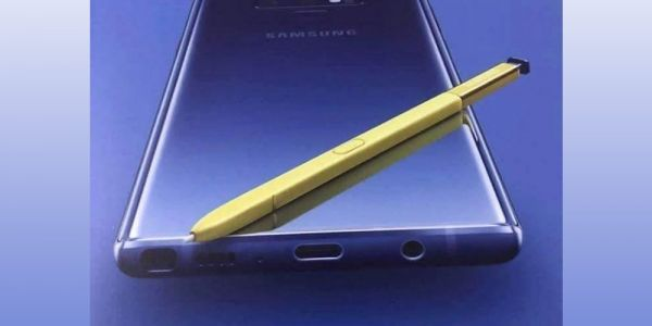 Leaked Galaxy Note 9 poster confirms headphone jack, shows off purple & gold colorway