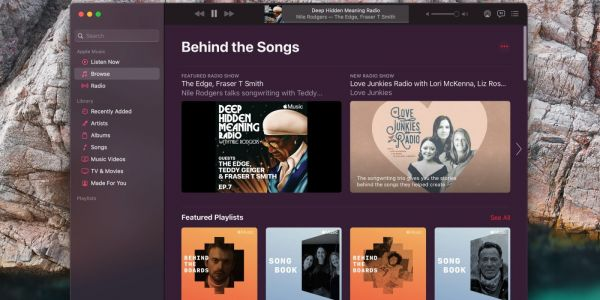 Apple Music showcasing session musicians and songwriters in 'Behind the Songs' collection