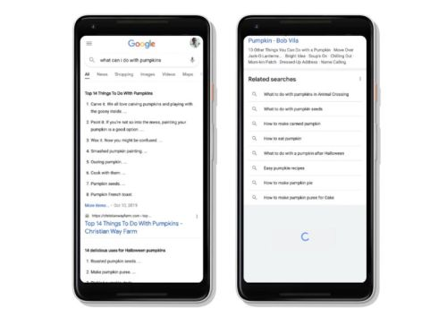 Google Search on mobile gets continuous scrolling