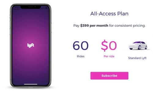 Lyft Testing Monthly Subscription Plans With Prices Reportedly Starting at $200/Month