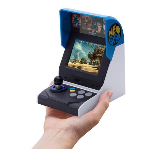 Start a new game with the retro SNK NEOGEO Mini International console