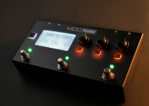 MOD Dwarf compact yet powerful powerful pedal controller