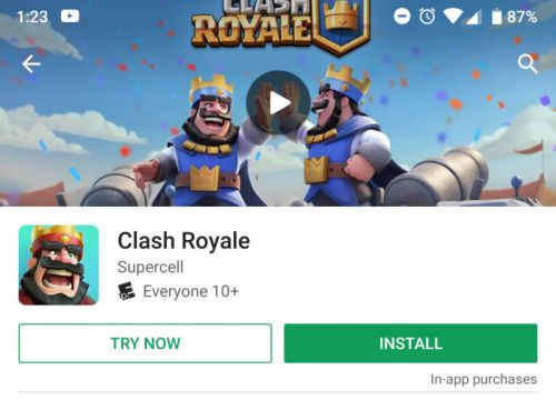 """The Play Store gets a """"try now"""" button for games, no install required"""