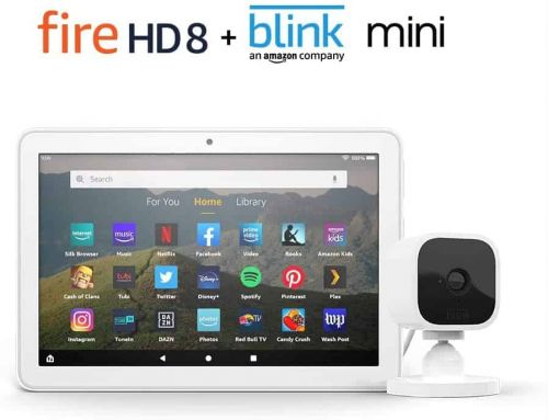 Bundle The Amazon Fire HD 8 Tablet & Blink Mini For Just $75
