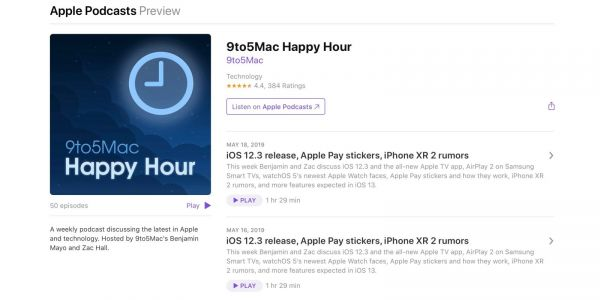 'Listen on Apple Podcasts' replaces 'iTunes' for podcast previews ahead of standalone Mac app