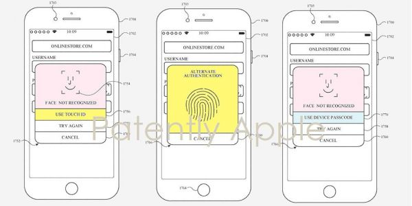 Apple patent describes both Face ID and Touch ID on the same iPhone; Face ID on an Apple Watch