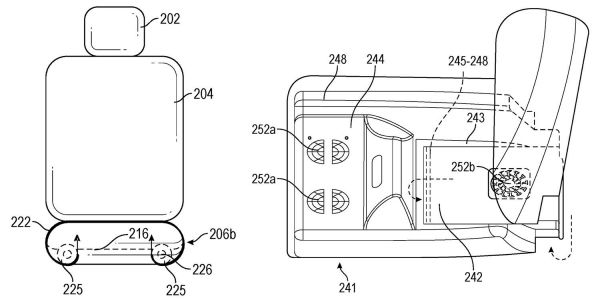Apple patent for hi-tech car seat solves a problem created by hi-tech car seat