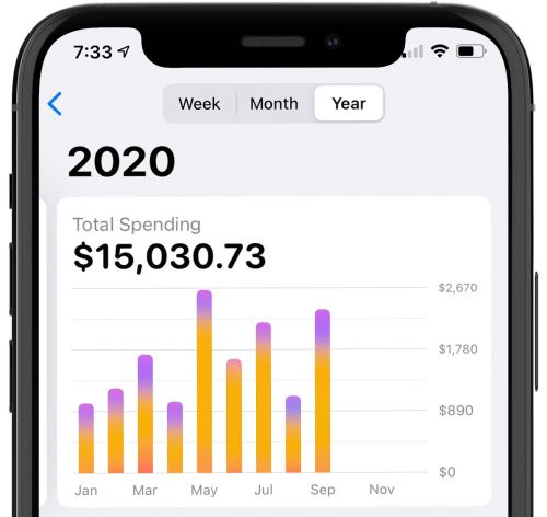 Apple Card Gains Yearly Spending Activity Option in Latest iOS 14.2 Beta