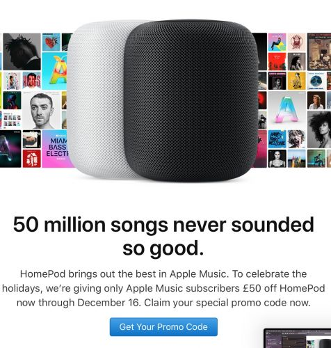 Apple Offering Discounts on HomePod to Apple Music Subscribers