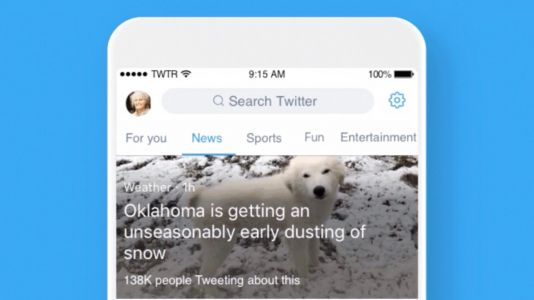 Twitter for iOS gains updated search tab with new section-based interface