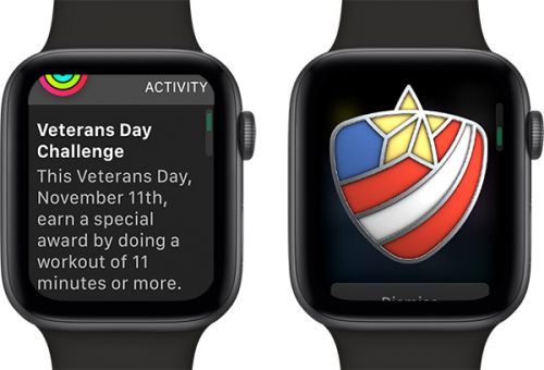 Apple Offers New Activity Challenge on Apple Watch for Veterans Day