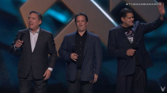 Sony, Microsoft, and Nintendo get up on stage at The Game Awards