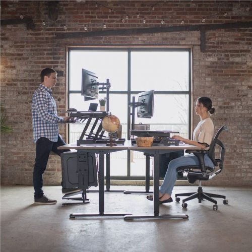 Switch up your workspace with this sale on VIVO standing desk converters