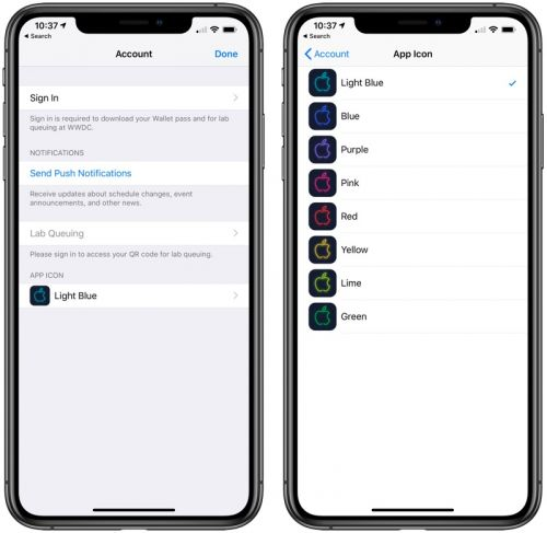 Apple Updates WWDC App With Customizable Icons, Hidden Session Info and iMessage Stickers Ahead of 2019 Event
