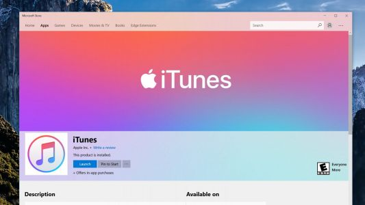 ITunes now finally available on the Microsoft Store