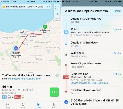 Apple Expands Maps Transit Data to Additional Cities in Ohio