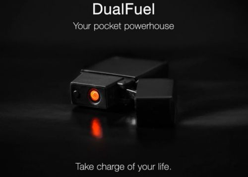 DualFuel lighter and battery pack