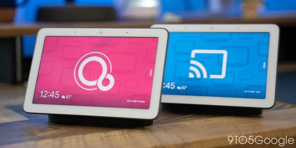Here's Fuchsia running on Google's Nest Hub; comparing it is a game of splitting hairs