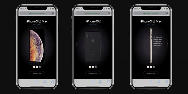 Apple advertises iPhone XS with microsite featuring 3D model that spins as you tilt your phone