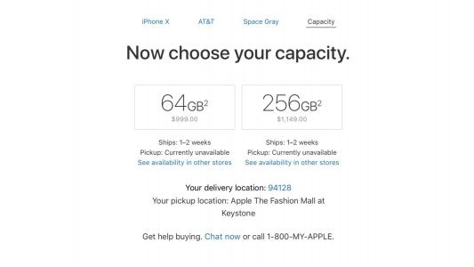 IPhone X ship times improve to 1-2 weeks just in time for holiday shopping