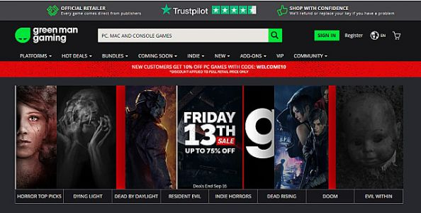 Green Man Gaming Friday the 13th Sale Slashes Prices on PC Games