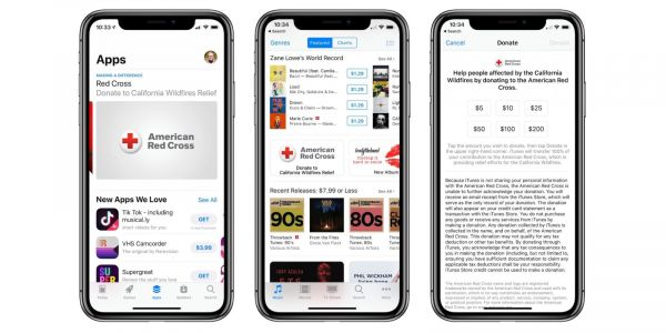 Apple collecting American Red Cross donations for California wildfire relief effort
