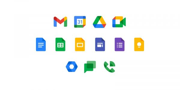 New Google Workspace icons rolling out - Drive, Gmail, Chat, Meet, Docs, Sheets