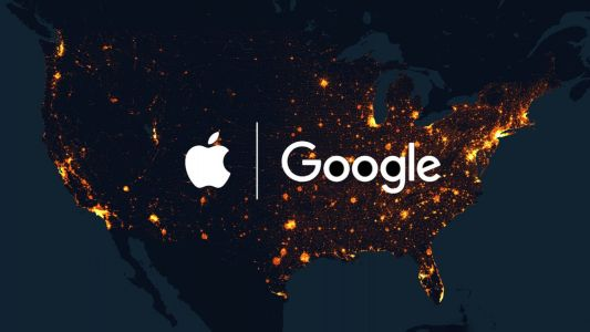 Which U.S. states are using Apple's Exposure Notification API for COVID-19 contact tracing?