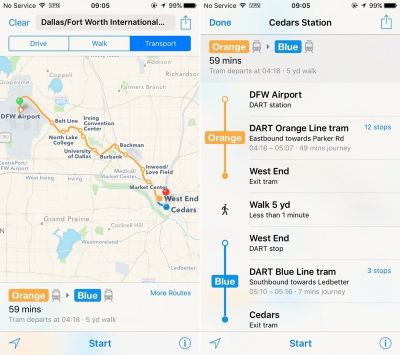 Apple Maps Expands Transit Data to San Antonio and Dallas-Fort Worth