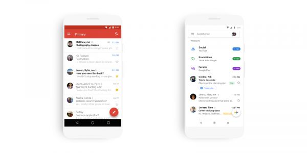 Gmail for Android revamped with Google Material Theme